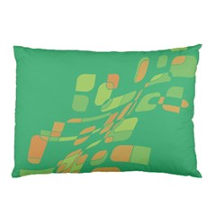 Green abastraction Pillow Case (Two Sides)