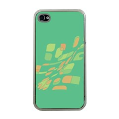 Green abastraction Apple iPhone 4 Case (Clear)