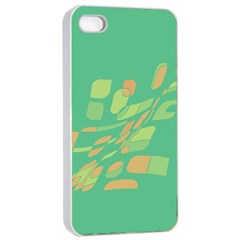 Green abastraction Apple iPhone 4/4s Seamless Case (White)
