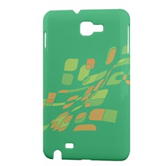 Green abastraction Samsung Galaxy Note 1 Hardshell Case