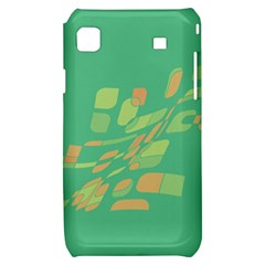 Green abastraction Samsung Galaxy S i9000 Hardshell Case