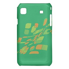 Green abastraction Samsung Galaxy S i9008 Hardshell Case