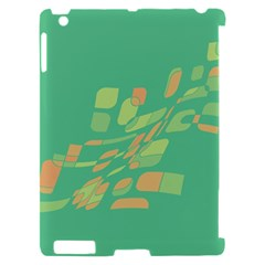 Green abastraction Apple iPad 2 Hardshell Case (Compatible with Smart Cover)