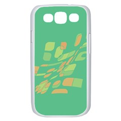 Green abastraction Samsung Galaxy S III Case (White)