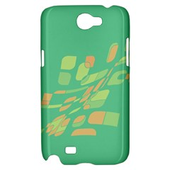 Green abastraction Samsung Galaxy Note 2 Hardshell Case