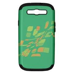 Green abastraction Samsung Galaxy S III Hardshell Case (PC+Silicone)