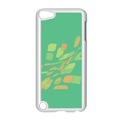 Green abastraction Apple iPod Touch 5 Case (White)