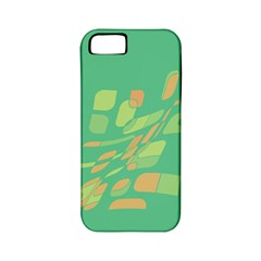 Green abastraction Apple iPhone 5 Classic Hardshell Case (PC+Silicone)