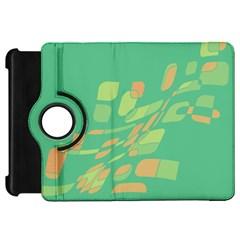 Green abastraction Kindle Fire HD Flip 360 Case