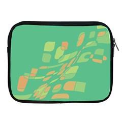 Green abastraction Apple iPad 2/3/4 Zipper Cases