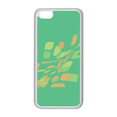 Green abastraction Apple iPhone 5C Seamless Case (White)