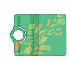 Green abastraction Kindle Fire HD (2013) Flip 360 Case