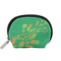 Green abastraction Accessory Pouches (Small)