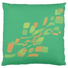 Green abastraction Large Flano Cushion Case (Two Sides)