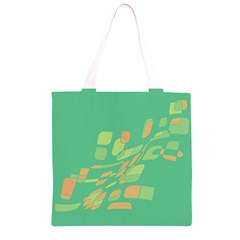 Green abastraction Grocery Light Tote Bag