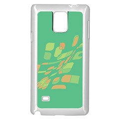 Green abastraction Samsung Galaxy Note 4 Case (White)