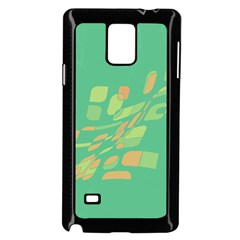Green abastraction Samsung Galaxy Note 4 Case (Black)