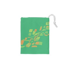 Green abastraction Drawstring Pouches (XS)