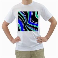 Colors of 70 s Men s T-Shirt (White) (Two Sided)