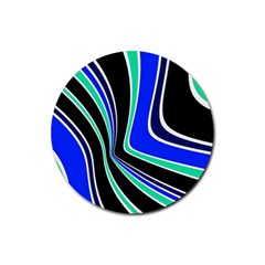 Colors of 70 s Rubber Round Coaster (4 pack)