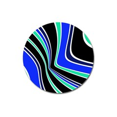 Colors of 70 s Magnet 3  (Round)