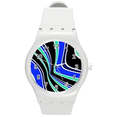 Colors of 70 s Round Plastic Sport Watch (M)