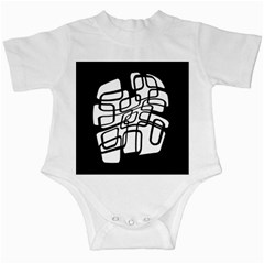White abstraction Infant Creepers