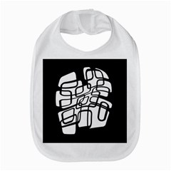 White Abstraction Bib