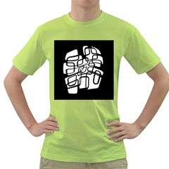 White abstraction Green T-Shirt