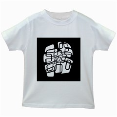 White abstraction Kids White T-Shirts