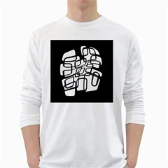 White abstraction White Long Sleeve T-Shirts