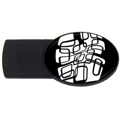 White abstraction USB Flash Drive Oval (4 GB)