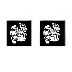 White abstraction Cufflinks (Square)