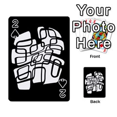 White abstraction Playing Cards 54 Designs