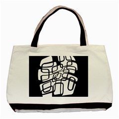 White abstraction Basic Tote Bag (Two Sides)