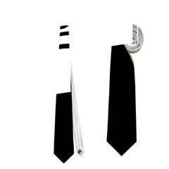White abstraction Neckties (One Side)