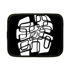 White abstraction Netbook Case (Small)