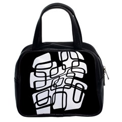 White abstraction Classic Handbags (2 Sides)