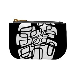 White abstraction Mini Coin Purses