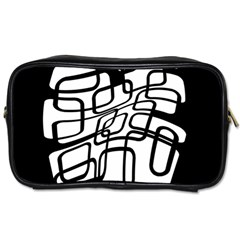 White abstraction Toiletries Bags 2-Side