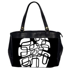 White abstraction Office Handbags (2 Sides)