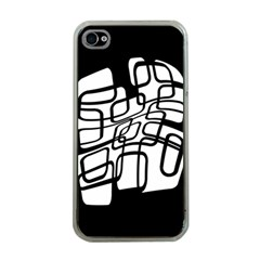 White abstraction Apple iPhone 4 Case (Clear)