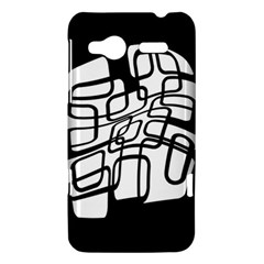 White abstraction HTC Radar Hardshell Case