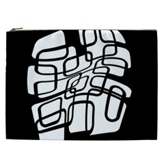 White abstraction Cosmetic Bag (XXL)