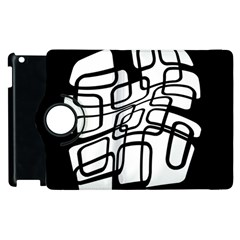White abstraction Apple iPad 3/4 Flip 360 Case