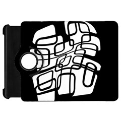 White abstraction Kindle Fire HD Flip 360 Case