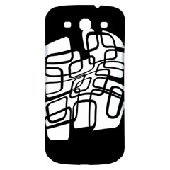 White abstraction Samsung Galaxy S3 S III Classic Hardshell Back Case