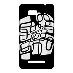White abstraction HTC One SU T528W Hardshell Case