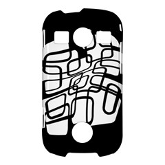 White abstraction Samsung Galaxy S7710 Xcover 2 Hardshell Case
