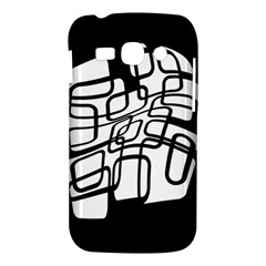 White abstraction Samsung Galaxy Ace 3 S7272 Hardshell Case
